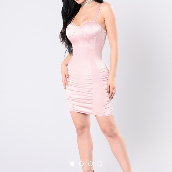 58ab3fe198 Fashion Nova Dresses   Skirts - Fashion Nova Pink bodycon bustier corset  dress